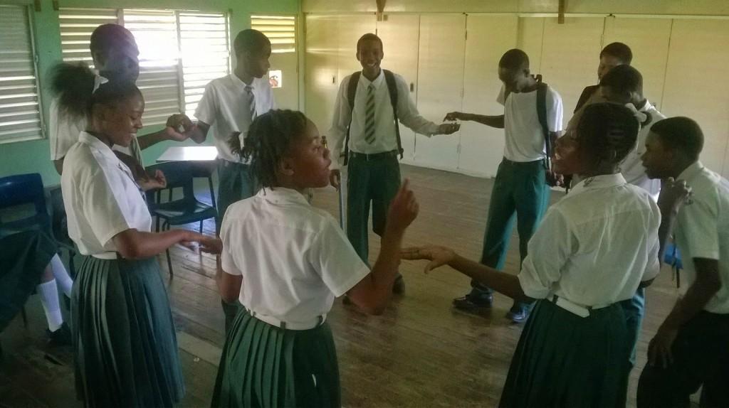 Grenada students ice breaker 20141113