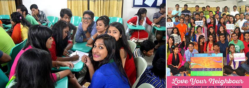 A bangladesiek (BSFB Banglades) azért gyűltek össze, hogy közösségben legyenek egymással és imádkozzanak.