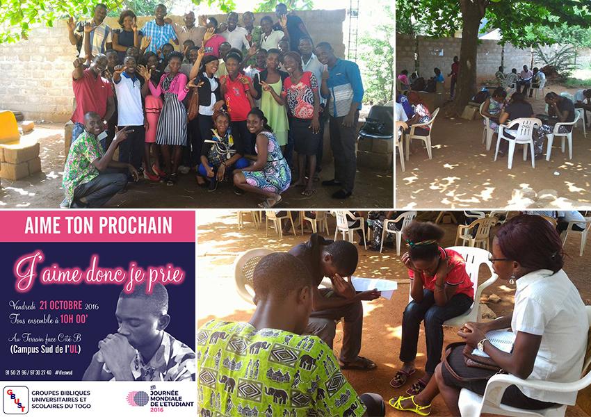 A GBUST Togo diákjai nem csupán összegyűltek imádkozni, hanem egyúttal adakoztak is az egyik diák édesapjának sürgős műtétjére.