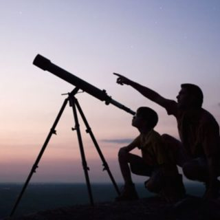 looking-through-telescope